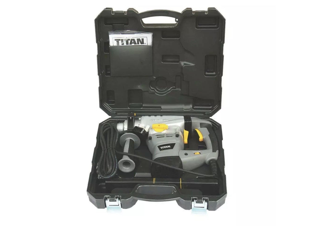 Refurbished Titan TTB278SDS Electric Brushed SDS Plus Drill & 9 Piece Accessory Kit 230-240V - Discounted Deals UK
