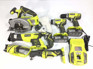 Ryobi One+ 6 Piece Cordless Combo Kit + 2 batteries - FREE DELIVERY - Discounted Deals UK
