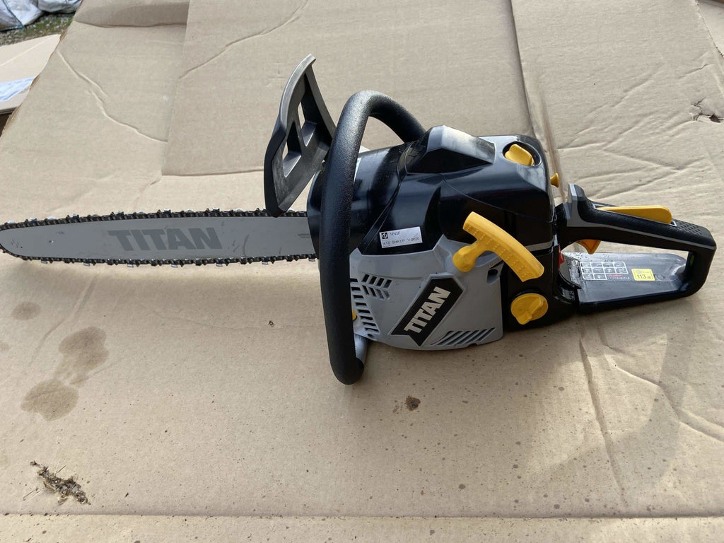 "Titan 40cc 16"" Bar Petrol Chainsaw - Ready To Run - Refurbished Condition - Discounted Deals UK"