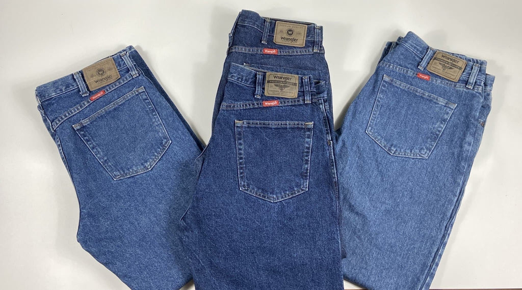 Vintage As New Authentic American Wrangler Classic Blue Denim Jeans Waist 34 Length 32 - Discounted Deals UK