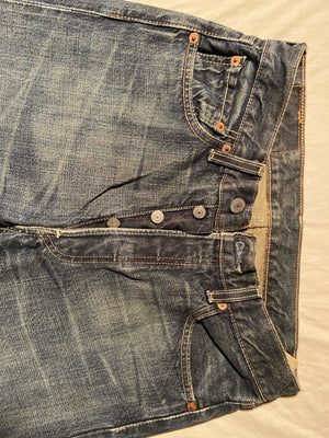 Vintage Grade A Levi's Original 501 Regular Fit Jeans W29 L34 (DE7) - Discounted Deals UK