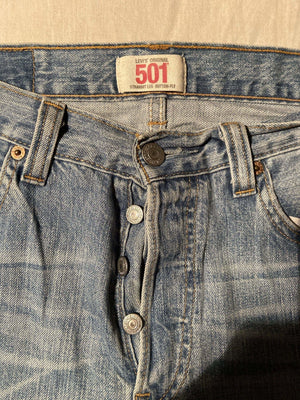Vintage Grade A Levi's Original 501 Regular Fit Jeans W30 L32 (DE7) - Discounted Deals UK