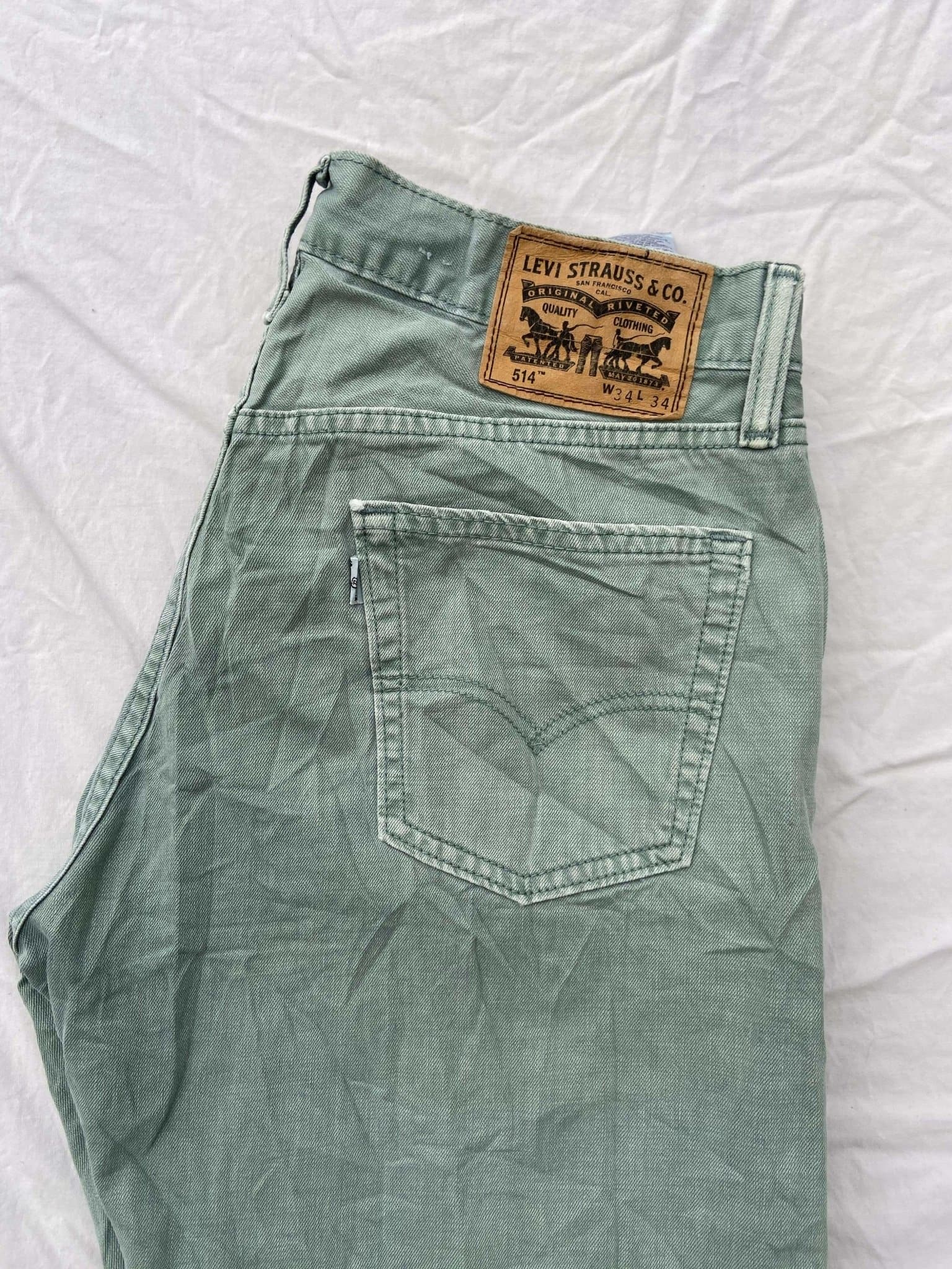 Vintage Levi's 514 Jeans W34 L34 (K5) - Discounted Deals UK