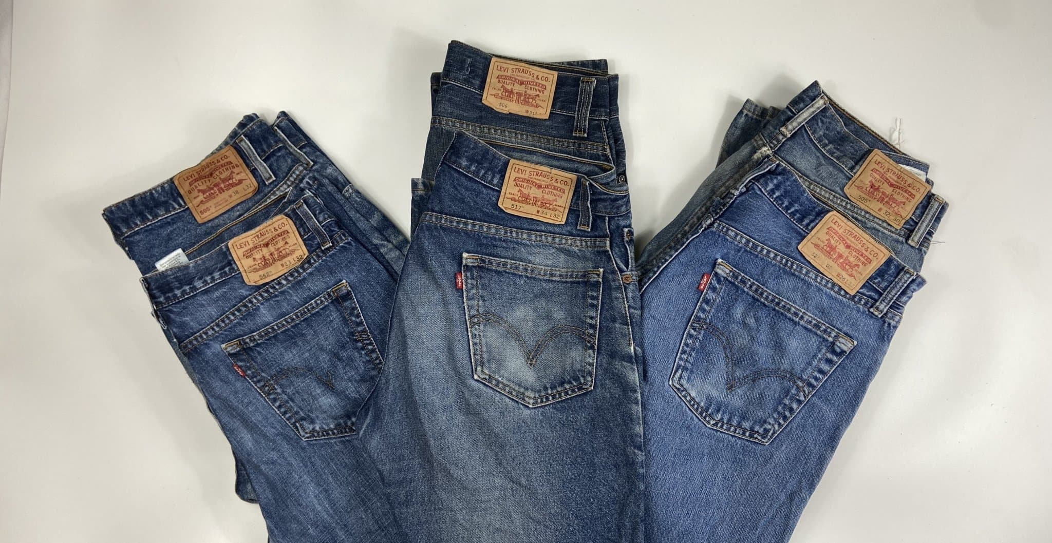 Vintage Levi's 521 Classic Blue Zip Fly Jeans W33 L32 (M15) - Discounted Deals UK