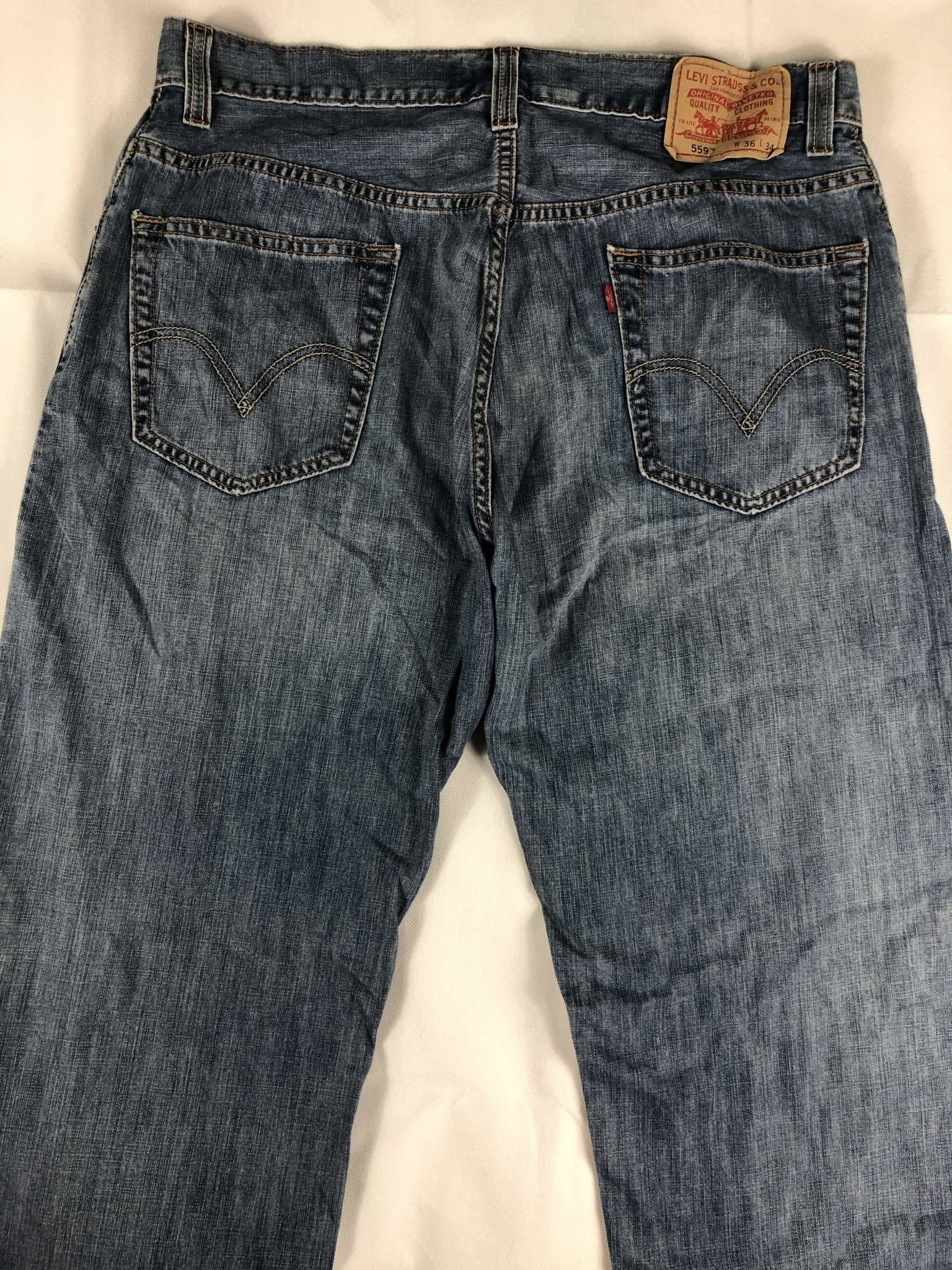 Vintage Levi's 559 Jeans W36 L34 (M15) - Discounted Deals UK