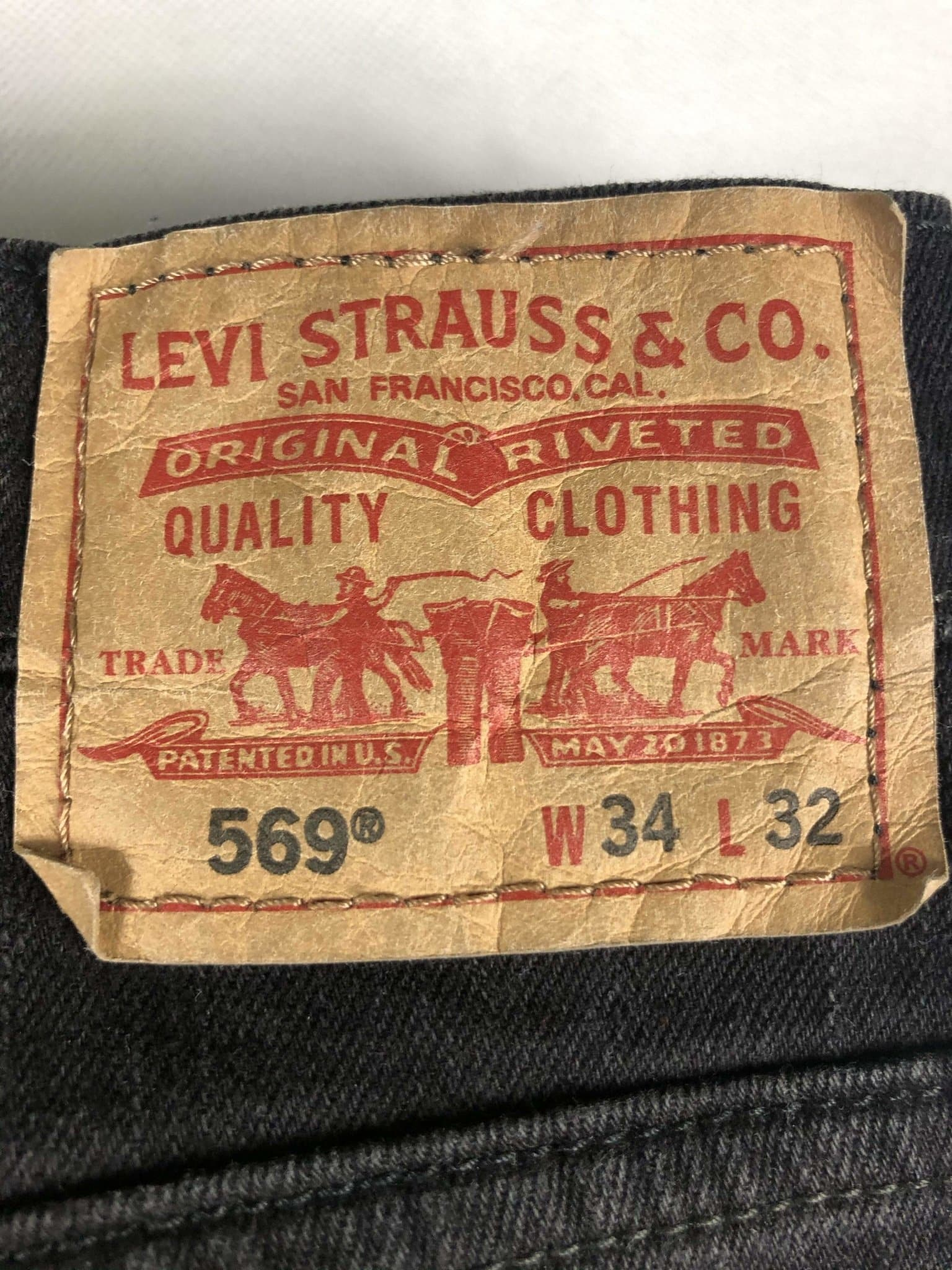Vintage Levi's 569 Jeans W34 L32 (M15) - Discounted Deals UK