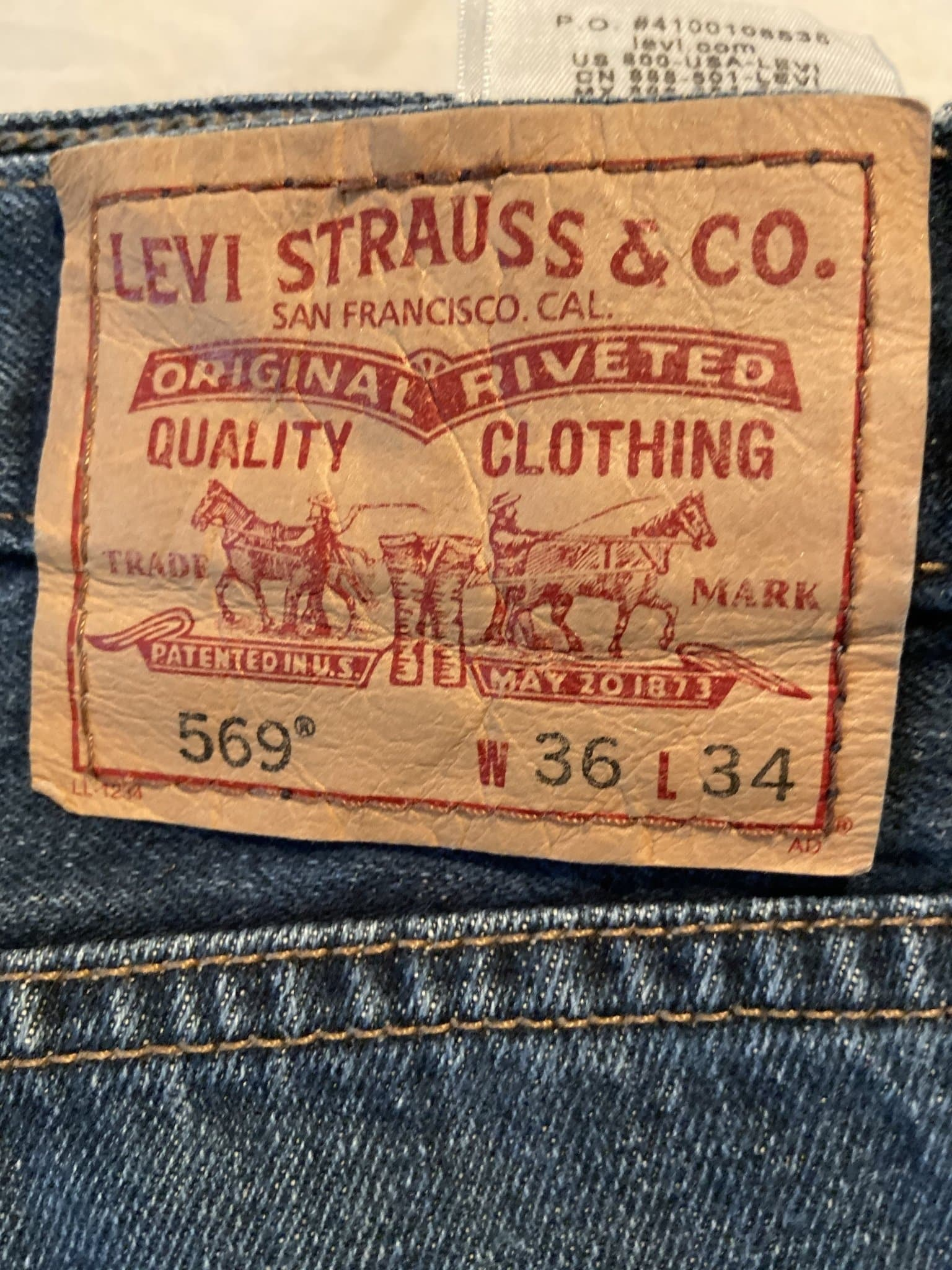Vintage Levi's 569 Jeans W36 L34 (L8) - Discounted Deals UK