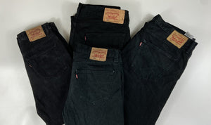 Vintage Levi's Classic 501 Jeans Dark Black/Grey W34 L32 (BL2) - Discounted Deals UK