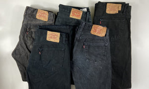Vintage Levi's Classic 501 Jeans Dark Black/Grey W35 L32 (BL2) - Discounted Deals UK