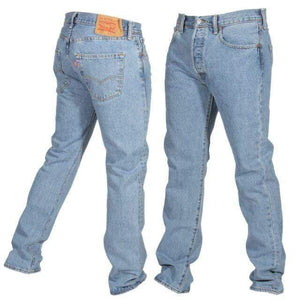 Vintage Levi's Classic 501 Jeans W32 L32 - Lighter Blue Wash (R3) - Discounted Deals UK