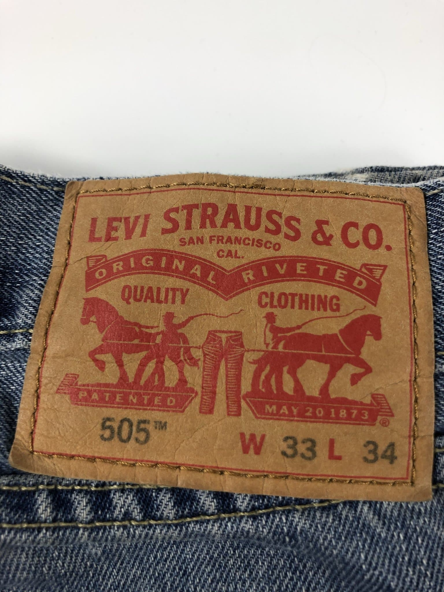 Vintage Levi's Classic 505 Jeans W33 L34 (I11) - Discounted Deals UK