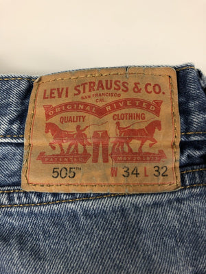 Vintage Levi's Classic 505 Jeans W34 L32 (E5) - Discounted Deals UK