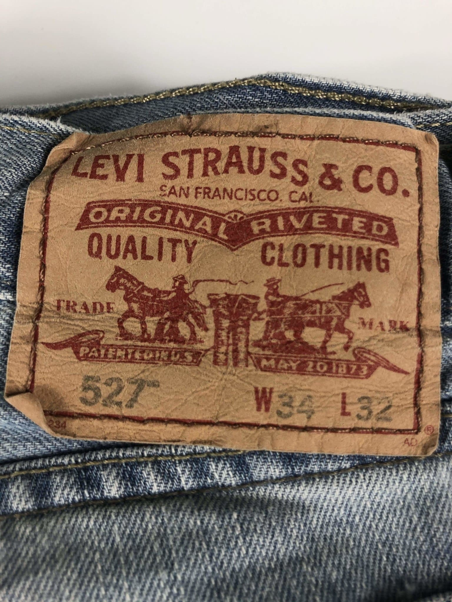 Vintage Levi's Classic 527 Jeans W34 L32 (M15) - Discounted Deals UK