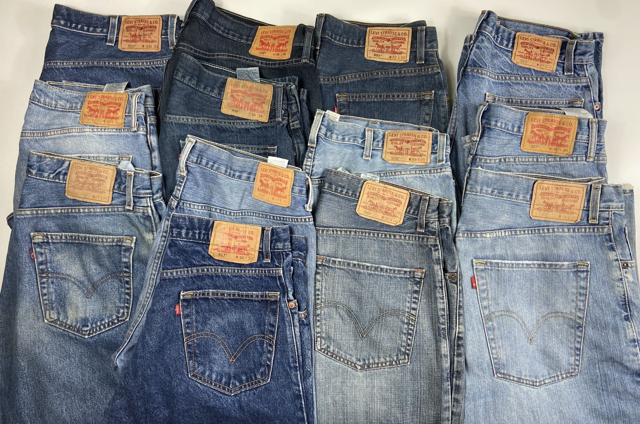Vintage Levi's Classic Blue Zip Fly Jeans W30 L30 (MX1) - Discounted Deals UK