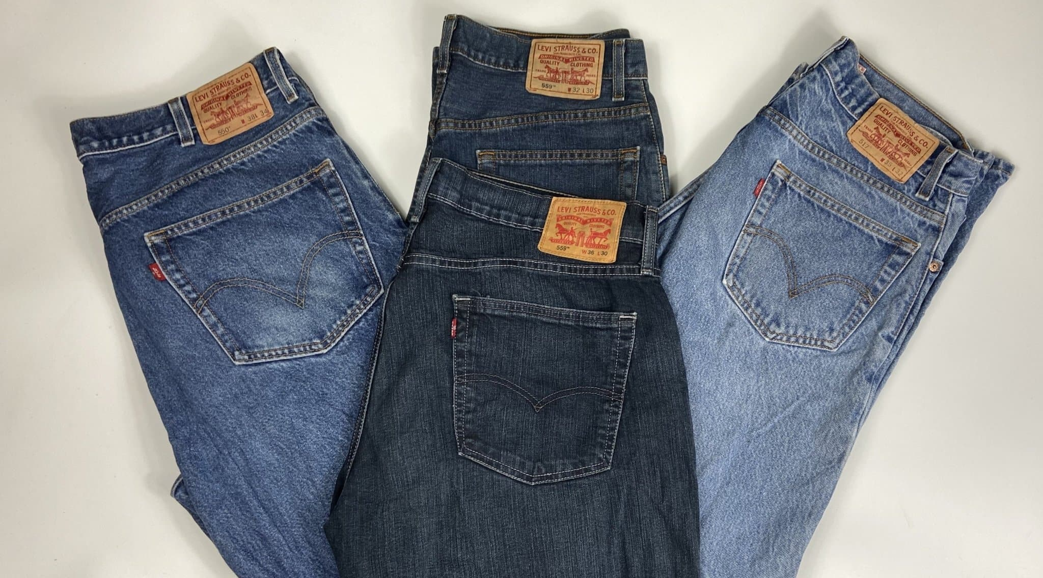 Vintage Levi's Classic Blue Zip Fly Jeans W34 L30 (MX1) - Discounted Deals UK