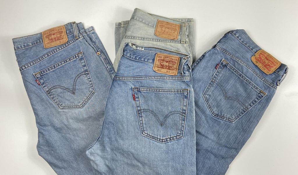 Vintage Levis Classic Lighter Blue Wash Zip Fly Jeans W27 L27 (MX7) - Discounted Deals UK