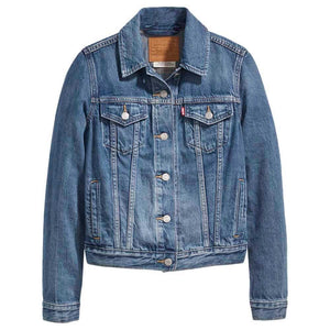 Vintage Levi's Denim Trucker Jacket For Women - Extra Large - Discounted Deals UK