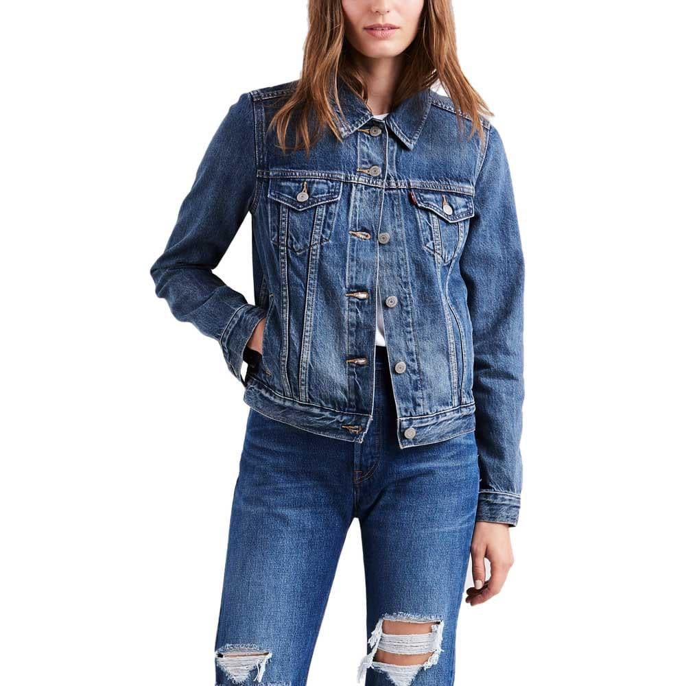 Vintage Levi's Denim Trucker Jacket For Women - Medium (LVB4) - Discounted Deals UK