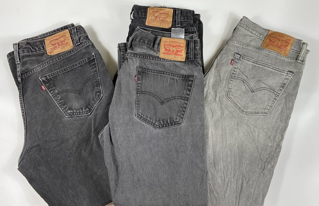 Vintage Levi's Grey/Charcoal Zip Fly Jeans Waist 34 Length 34 (GCMX1) - Discounted Deals UK