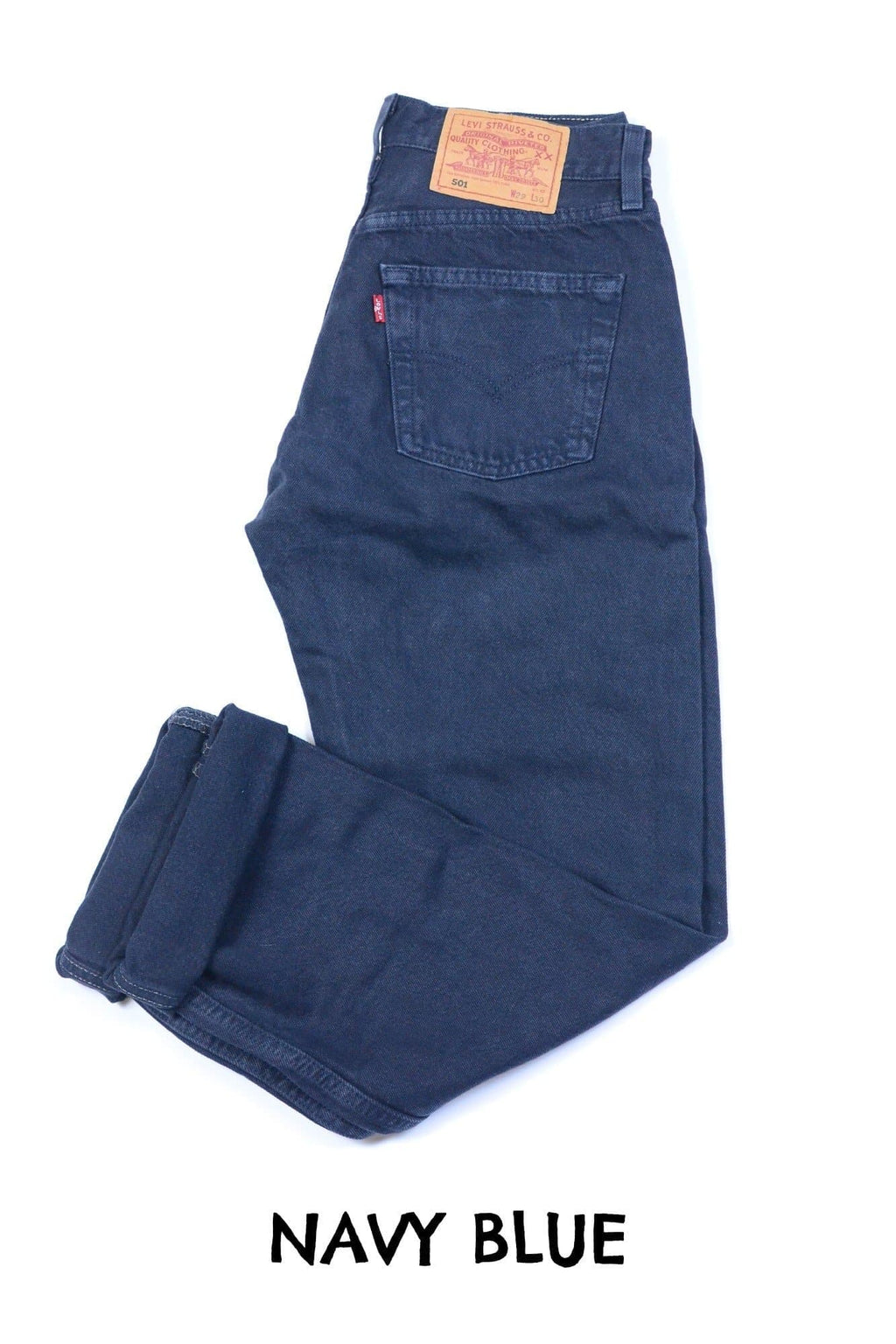 Vintage Levi's Navy Blue 501 Jeans Waist 44 Length 32 - Discounted Deals UK