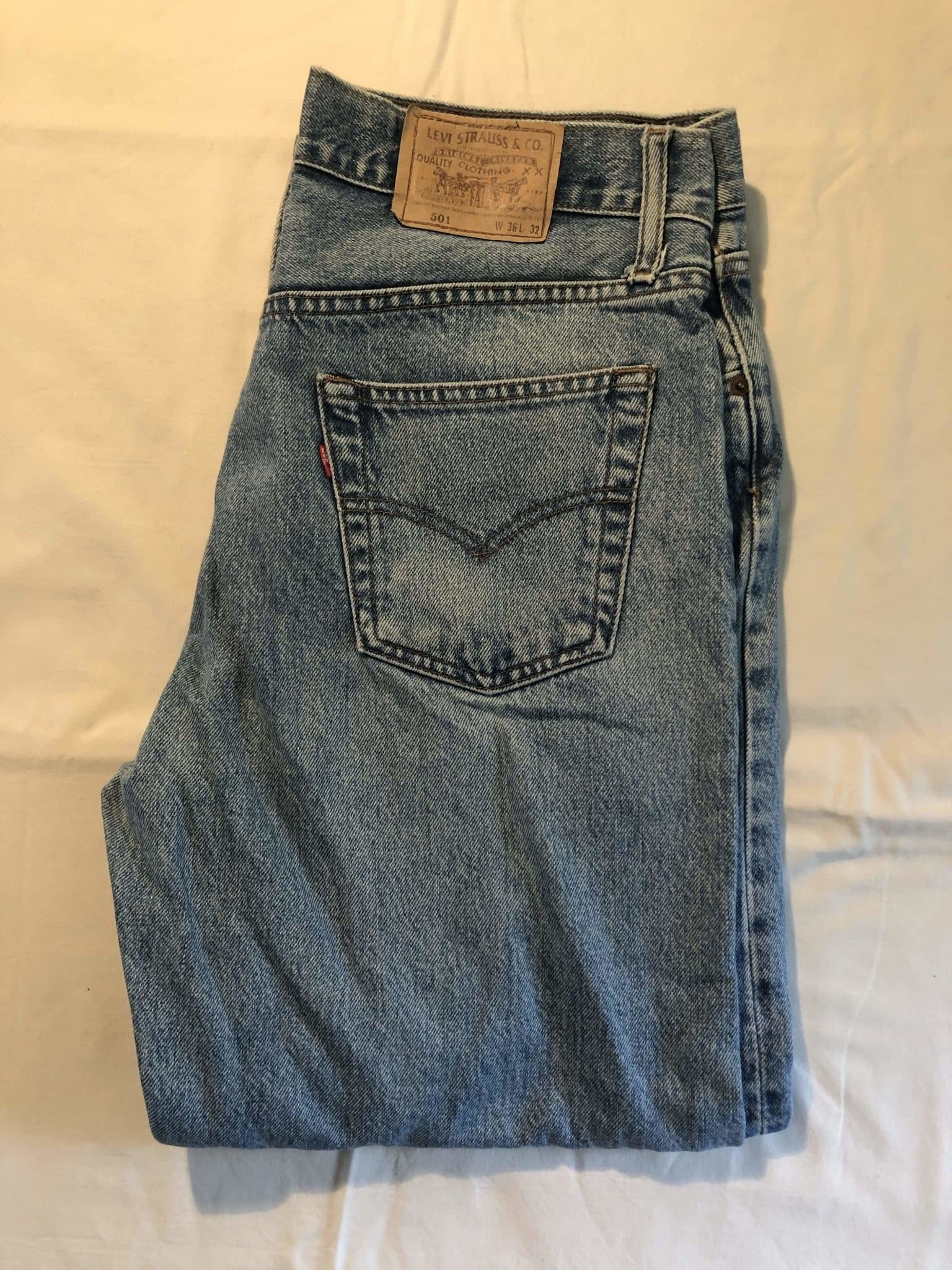 Vintage Levi's Original 501 Jeans W36 L32 (G17) - Discounted Deals UK