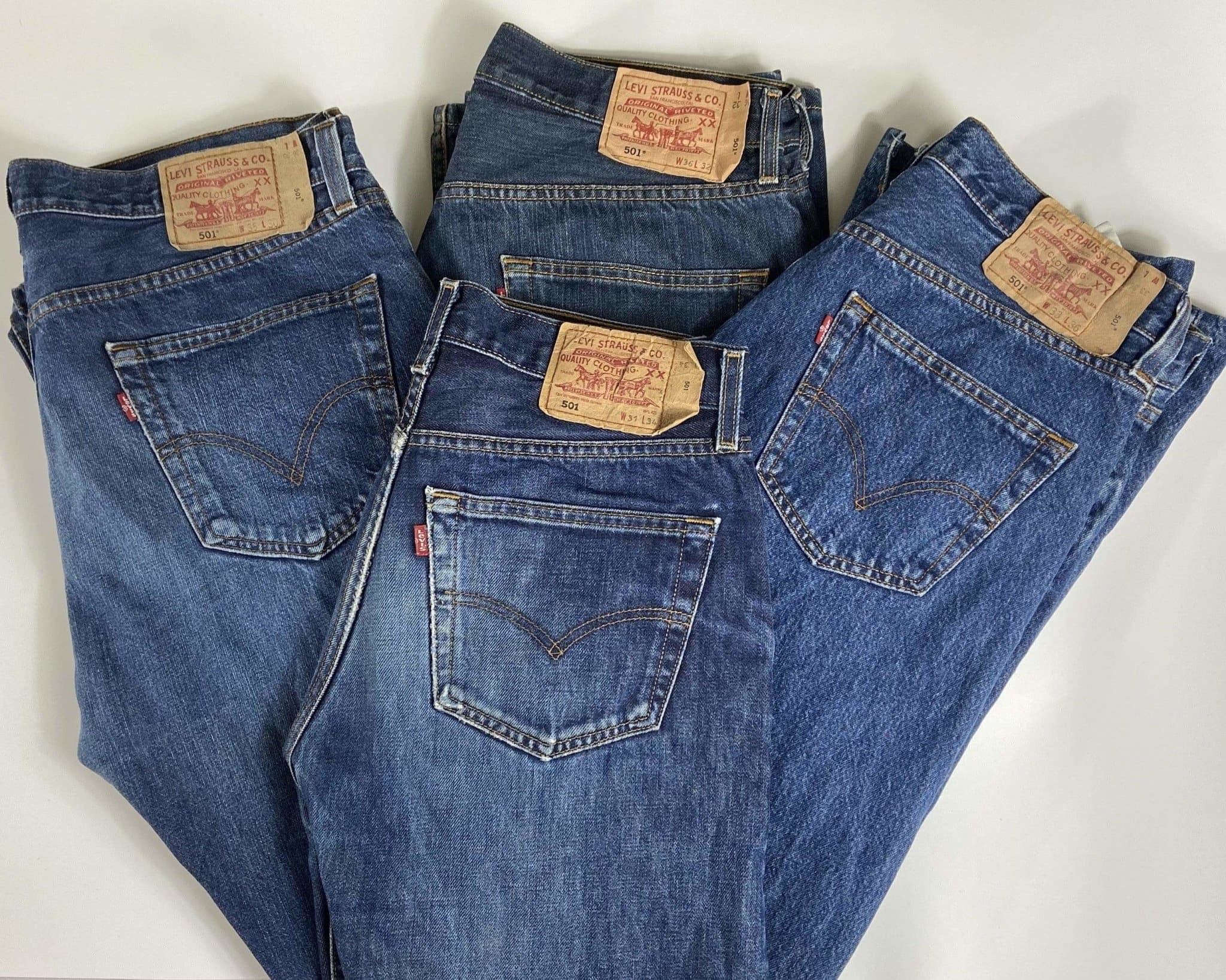 Vintage Levi's Regular Fit 501 Jeans W32 L30 (LVB3) - Discounted Deals UK