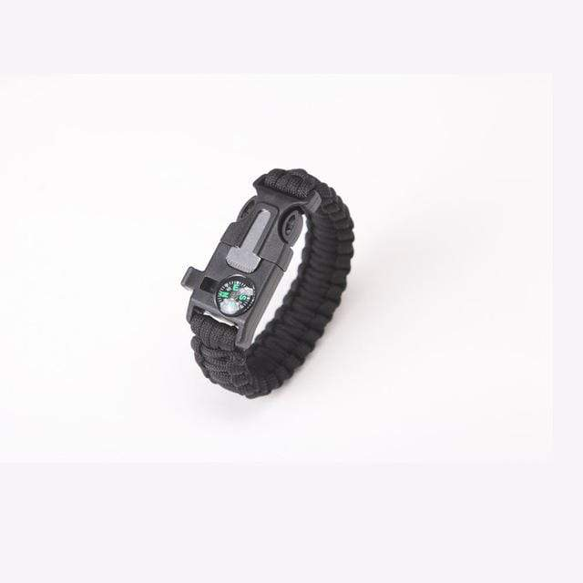 Survival Jungle Survival Tool black Paracord Survival Armband