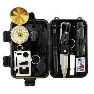Survival Jungle Survival Tool Survival Outdoor Notfall-Kit 10 in 1