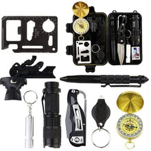 Laden Sie das Bild in den Galerie-Viewer, Survival Jungle Survival Tool Survival Outdoor Notfall-Kit 10 in 1