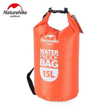 Laden Sie das Bild in den Galerie-Viewer, Survival Jungle Tasche 15L Orange Ultraleichter wasserdichter Camping Beutel