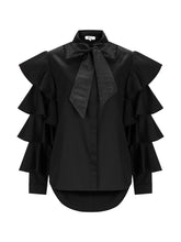 Load image into Gallery viewer, MARCELLA - Layered Flared Sleeve Bow Neck Shirt