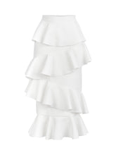 Load image into Gallery viewer, LYDIA - Asymmetric Flared Midi Skirt