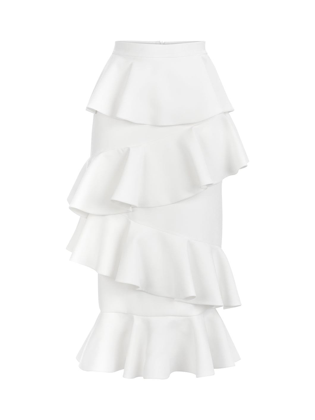 LYDIA - Asymmetric Flared Midi Skirt