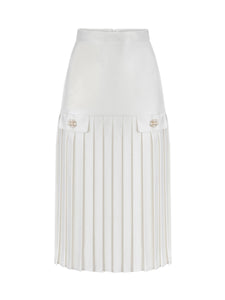 CINDY UZN- Pleated Midi Skirt