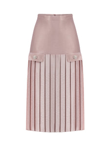CINDY UZN - Pleated Midi Skirt