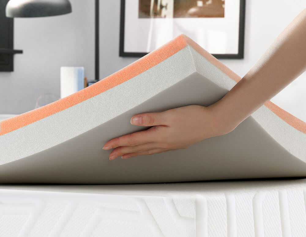Inofia Double Size Mattress Topper with 6cm Foam