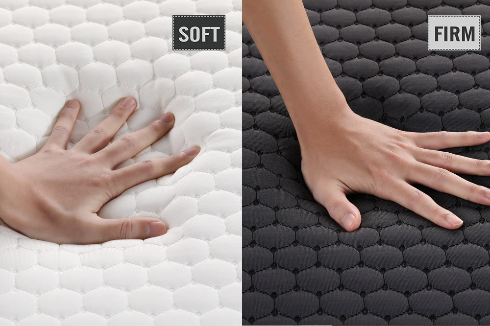Inofia Memory Foam Mattress Soft and firm 2 in 1 450g / m² massager cover