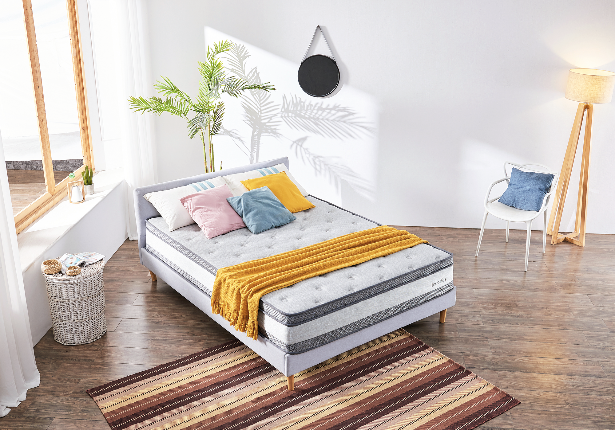Inofia King Mattress with Air Buffer Spring, Tuft Expertly Handcrafted Mattress.