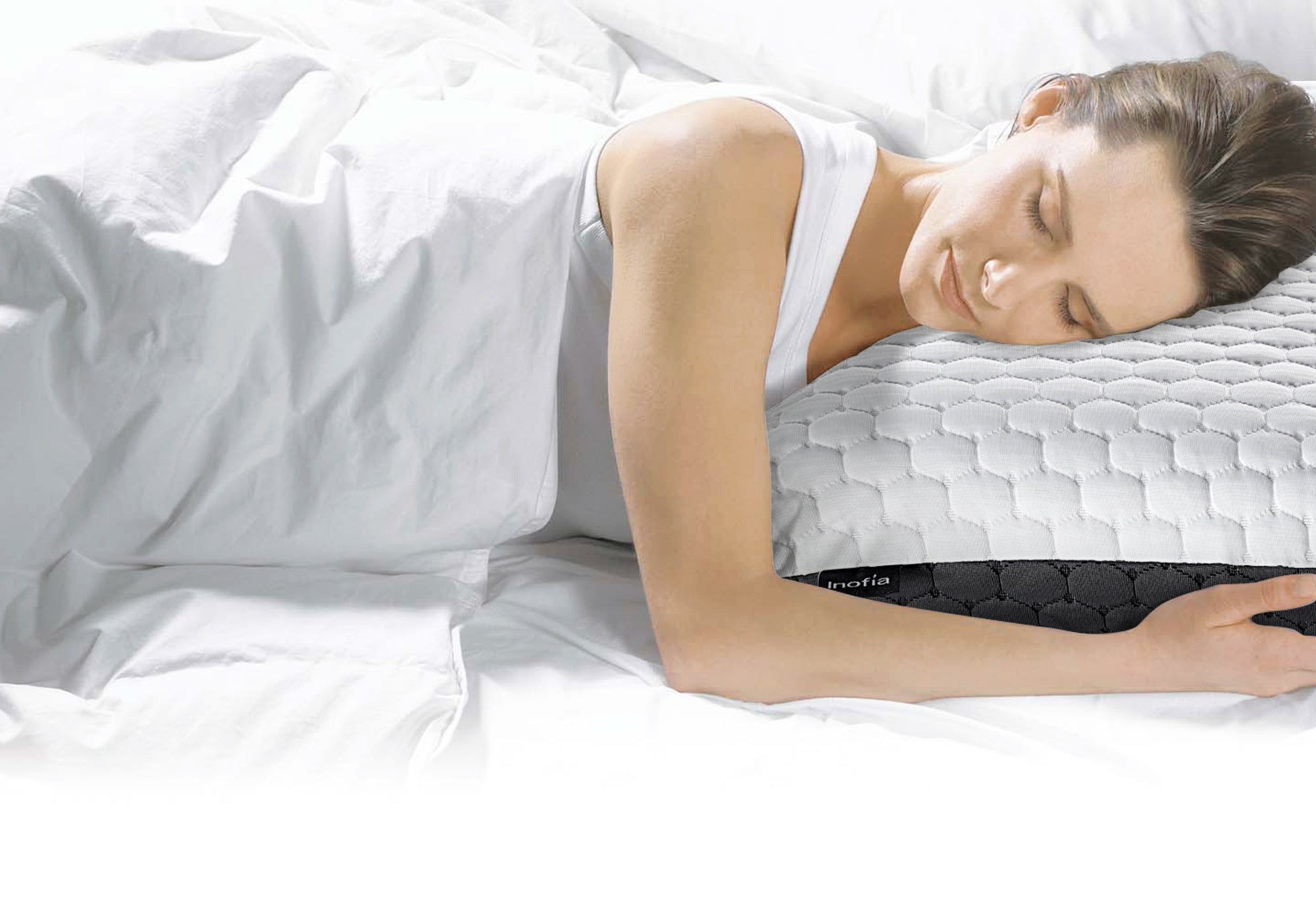 Inofia Latex Memory Foam Pillow for Neck Pain/Allergy Prevention