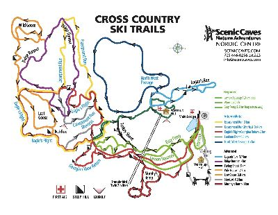 Scenic Caves Nordic Centre 2019 Cross Country Ski Trails