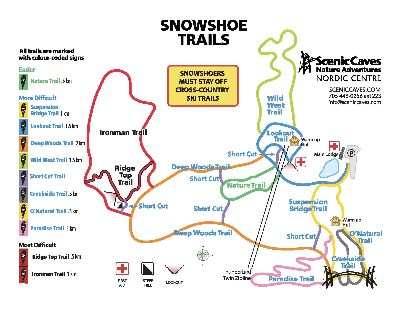 Scenic Caves Nordic Centre 2019 Snow Shoe Trails
