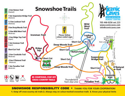 Scenic Caves Nature Adventures - Snowshoe Trail Map