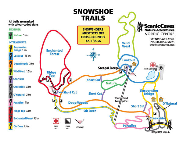 Scenic Caves Nordic Centre 2020/21 Snow Shoe Trails
