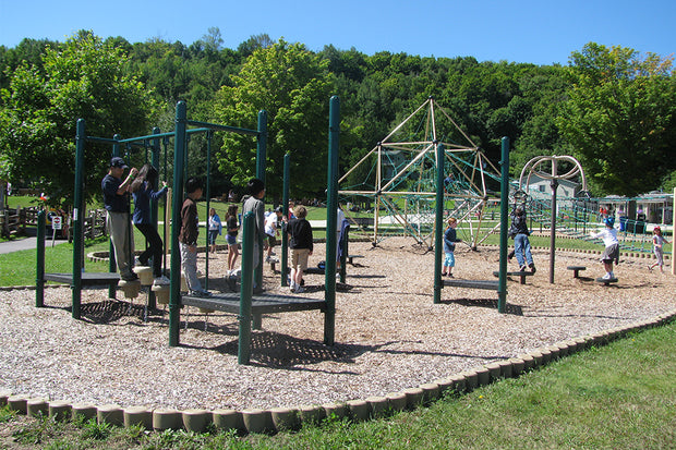 Children playing at the playground - Scenic Caves Nature Adventures - Collingwood