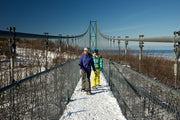 Winter Suspension Bridge - Scenic Caves Nature Adventures