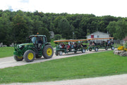 Leaving on a tractor ride - Scenic Caves Nature Adventures - Collingwood