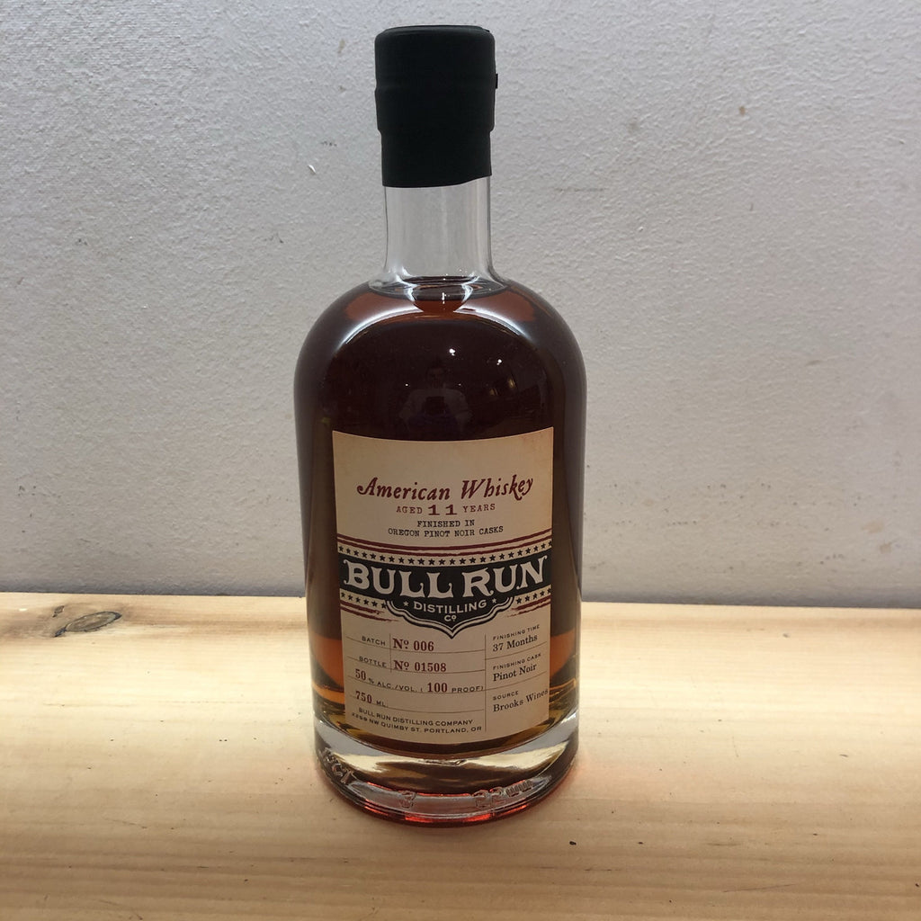 Bull Run Distilling Company Pinot Noir-Finished American Whiskey