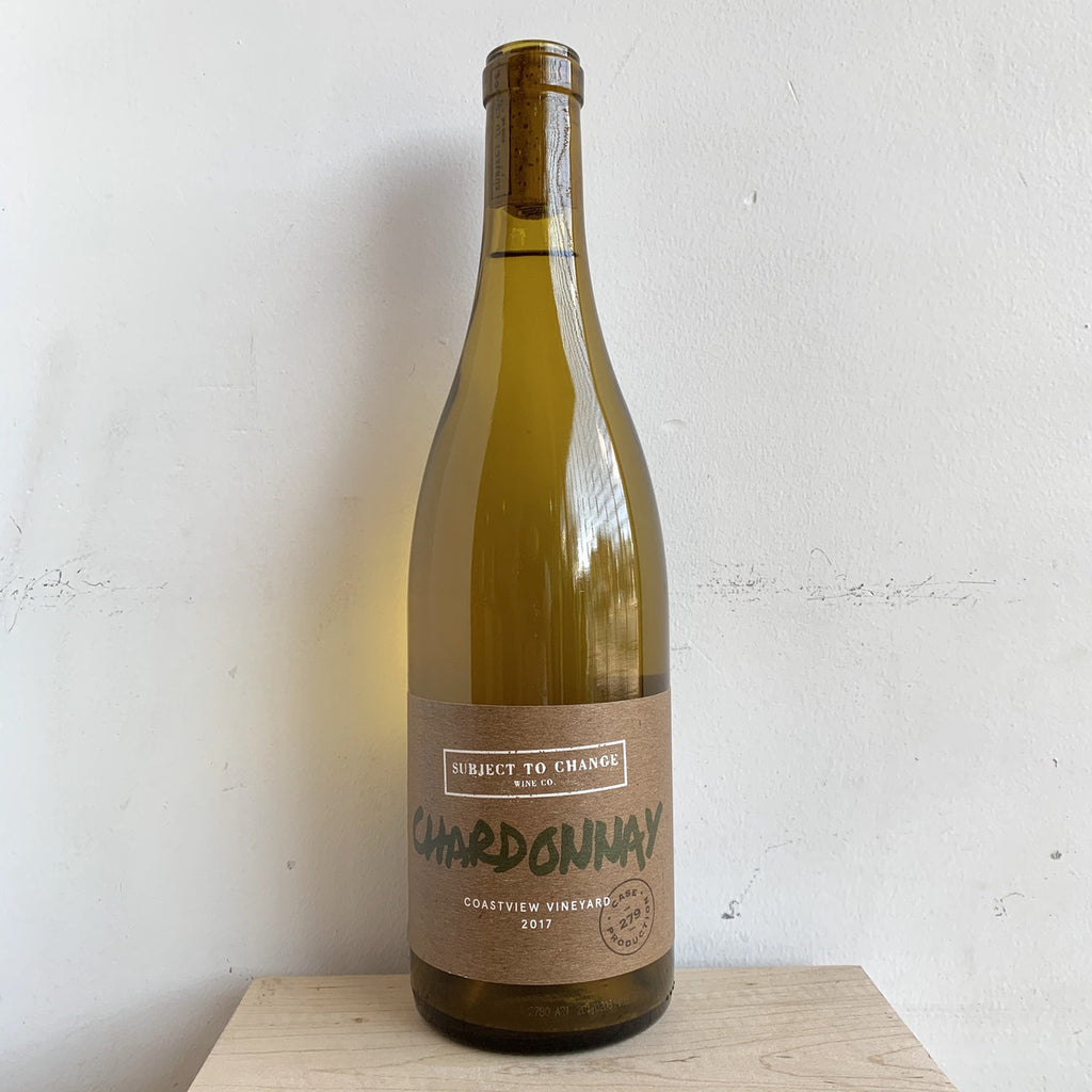 "Subject To Change Wine Company, ""Chardonnay"" 2018"