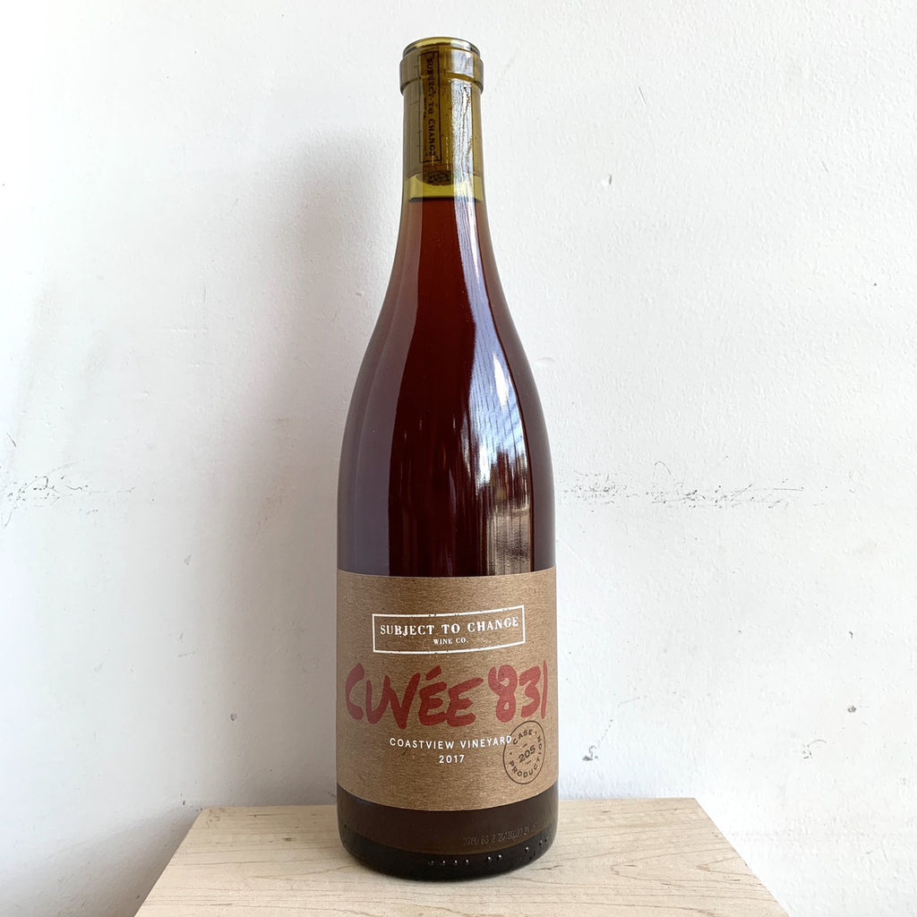 "Subject to Change Wine Company, ""Cuvee 831"" NV"