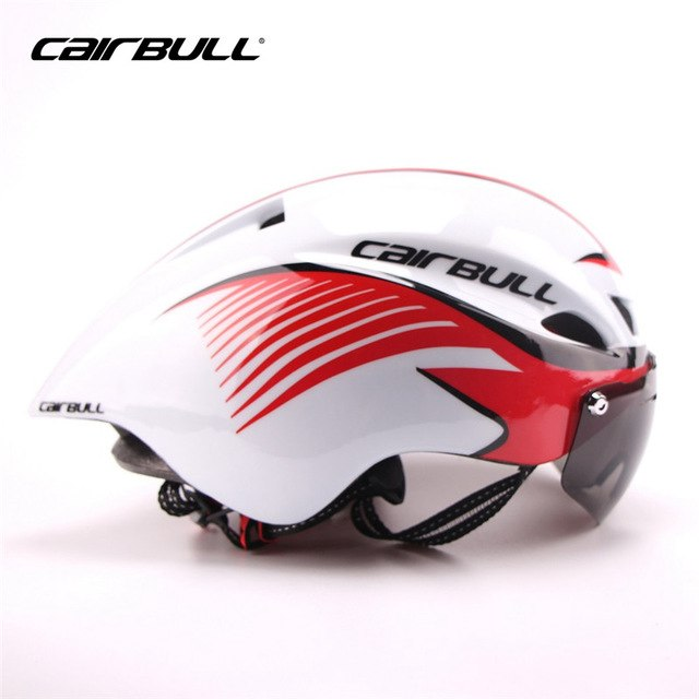 Aerodynamic Sport Cycling Helmet With Goggles